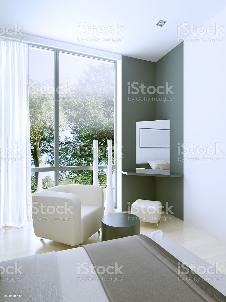 Dressing table in expensive hotel room stock photo