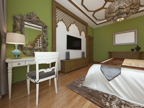 Dressing Table With A Mirror In The Bedroom Middle Eastern Design Stock Photo Download Image Now Istock