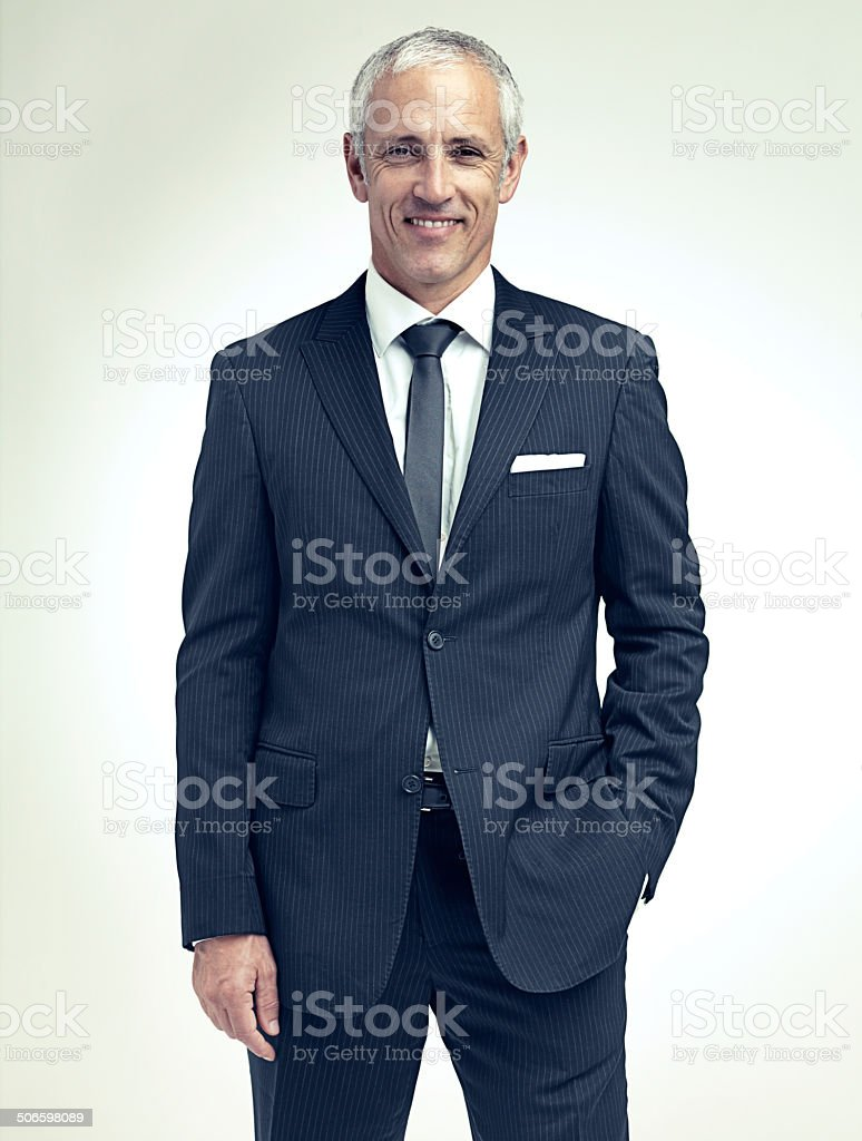 Dressing well is a form of good manners stock photo