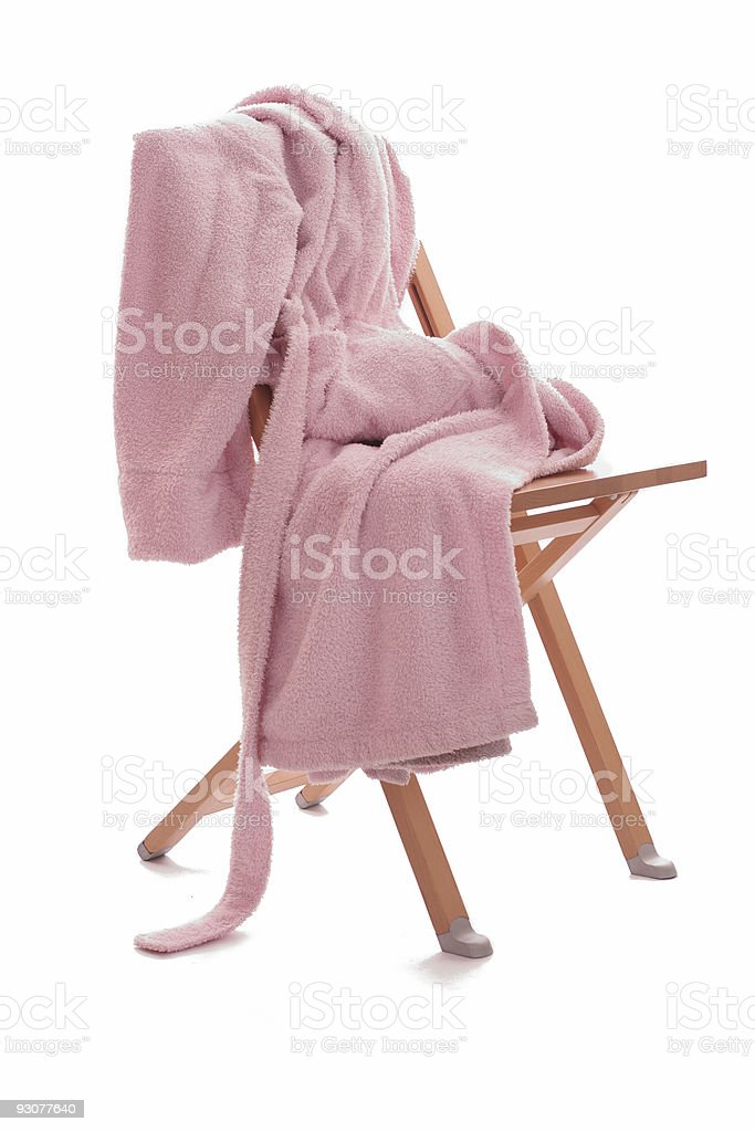 dressing-gown is on the chair royalty-free stock photo