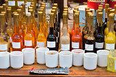 Vinegar bottle icons set. Flat illustration of 9 vinegar bottle icons for web