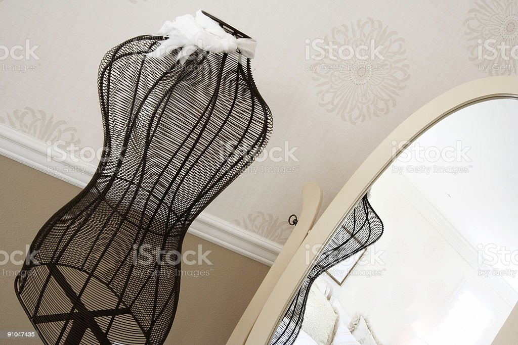 Dressmaker Frame and Mirror royalty-free stock photo