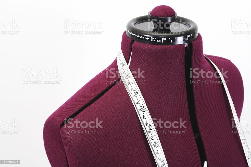 dressmaker's dummy with tape royalty-free stock photo