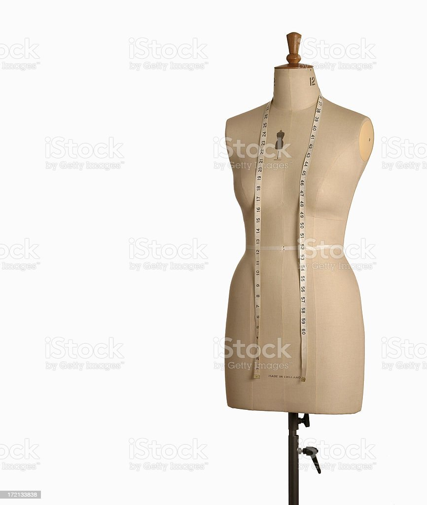Dressmakers Form stock photo