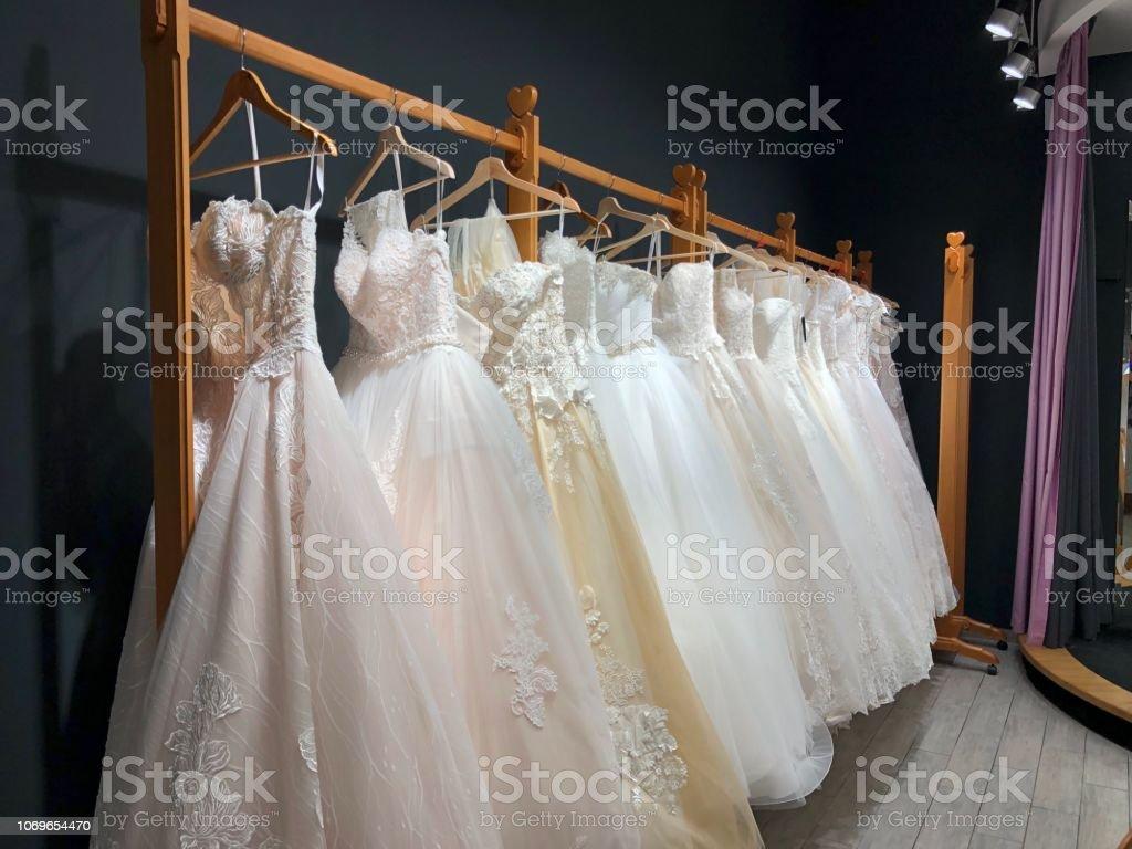 Dress,Wedding,White,Hanger,Shopping,Bride, stock photo