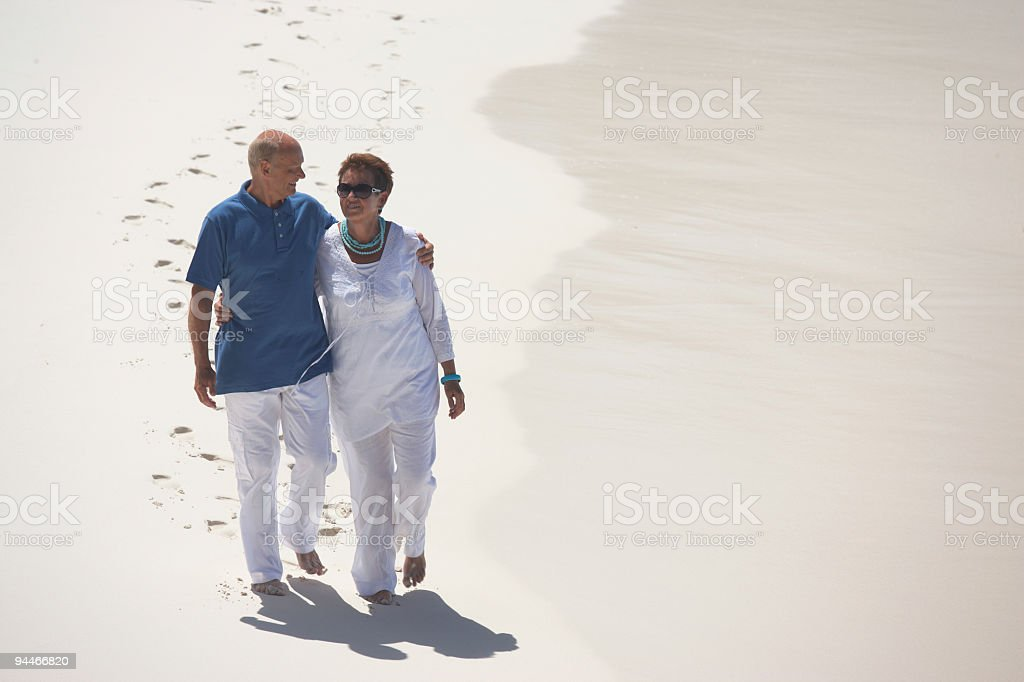 dressy senior couple royalty-free stock photo