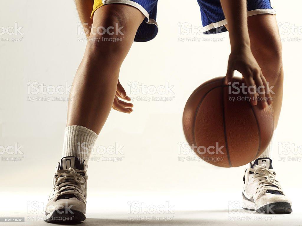 Dribbling Basketball stock photo