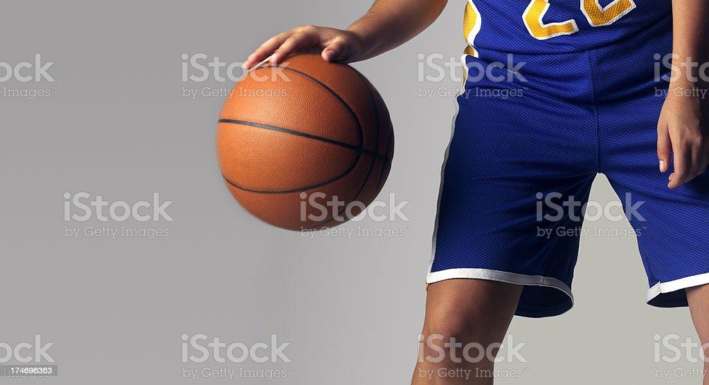 Dribbling Basketball royalty-free stock photo