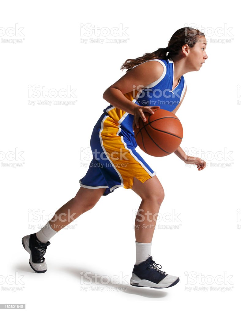 Dribbling Basketball stock photo