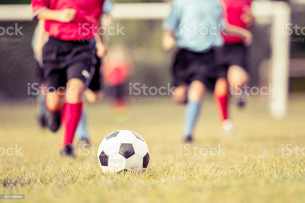 Dribbling the Ball in the Middle of the Game stock photo