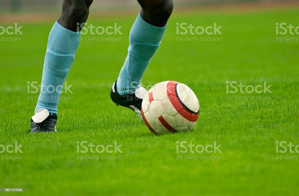 dribbling the ball royalty-free stock photo