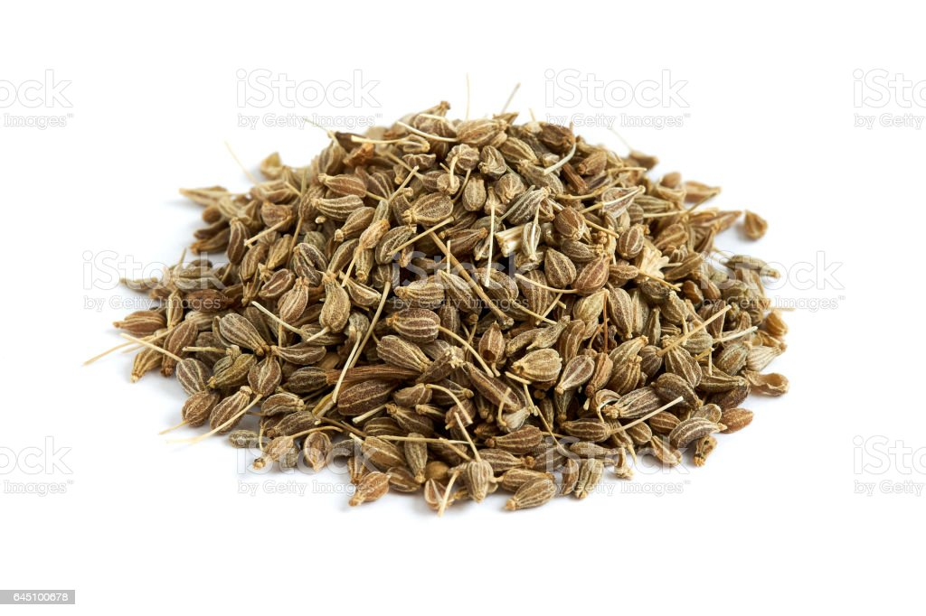 Dried anise seed stock photo