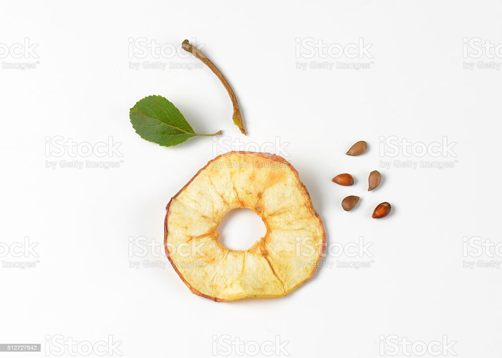 dried apple ring stock photo