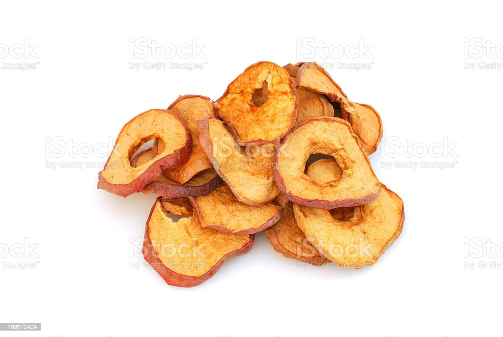 dried apple slices stock photo