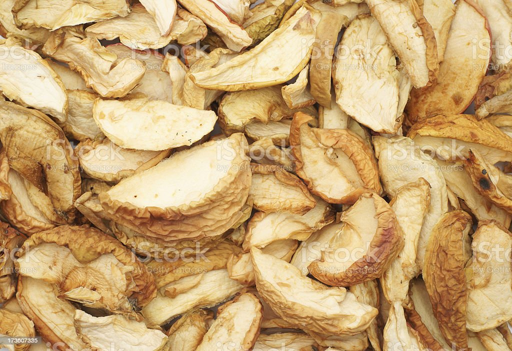 Dried apples as background stock photo