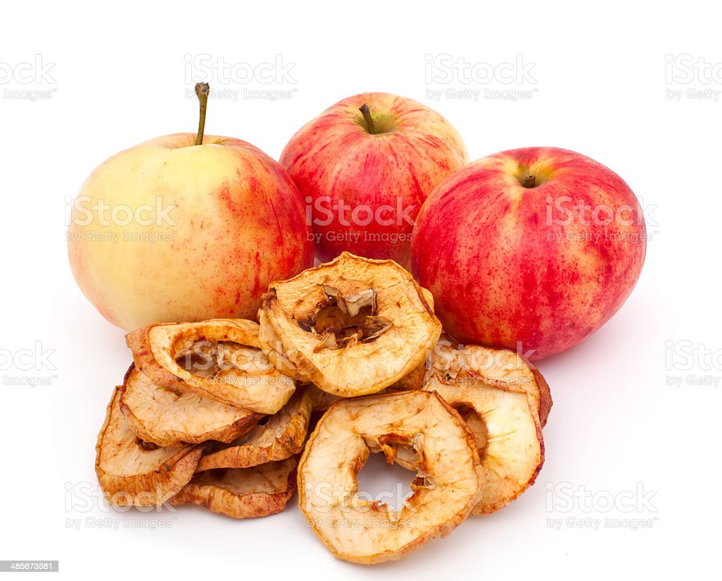 dried apples stock photo