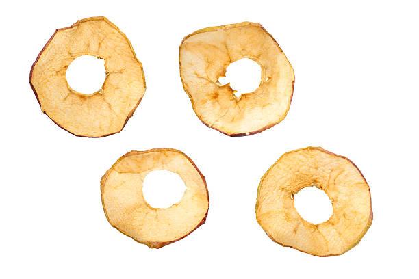 dried apples - gedroogd voedsel stockfoto's en -beelden