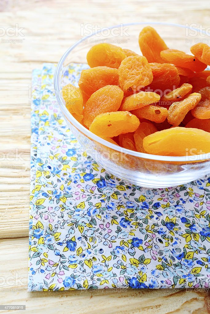 dried apricots in a bowl royalty-free stock photo