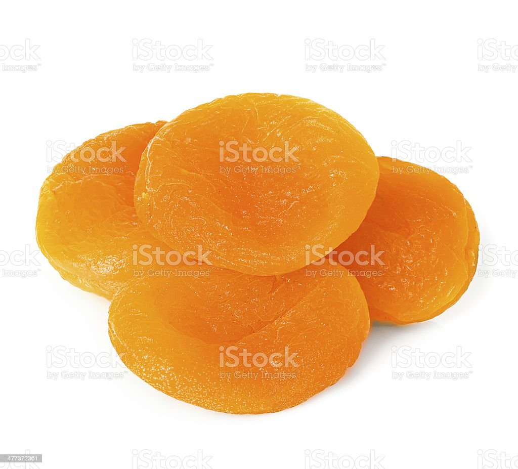 Dried apricots royalty-free stock photo