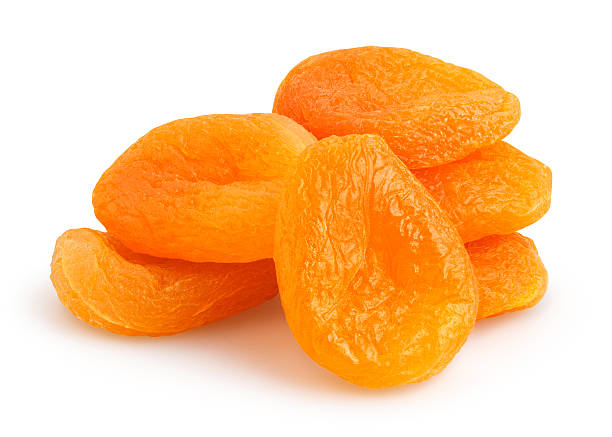 dried apricots - dry stock photos and pictures