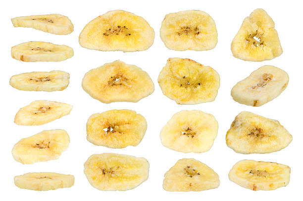 suszone banany - suszony produkt zdjęcia i obrazy z banku zdjęć