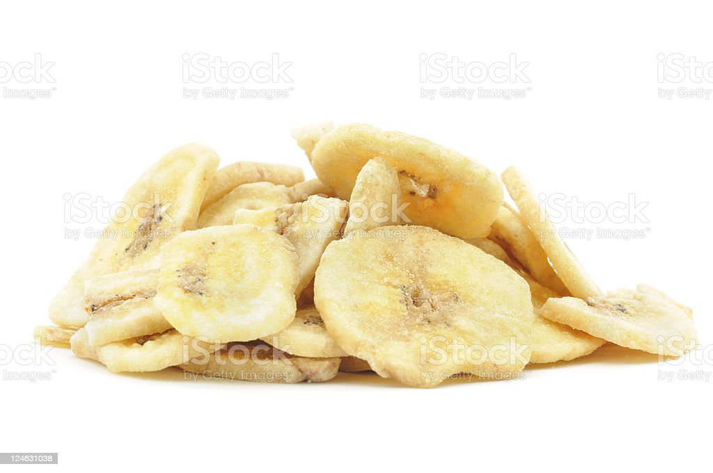 Dried Banana Pile stock photo