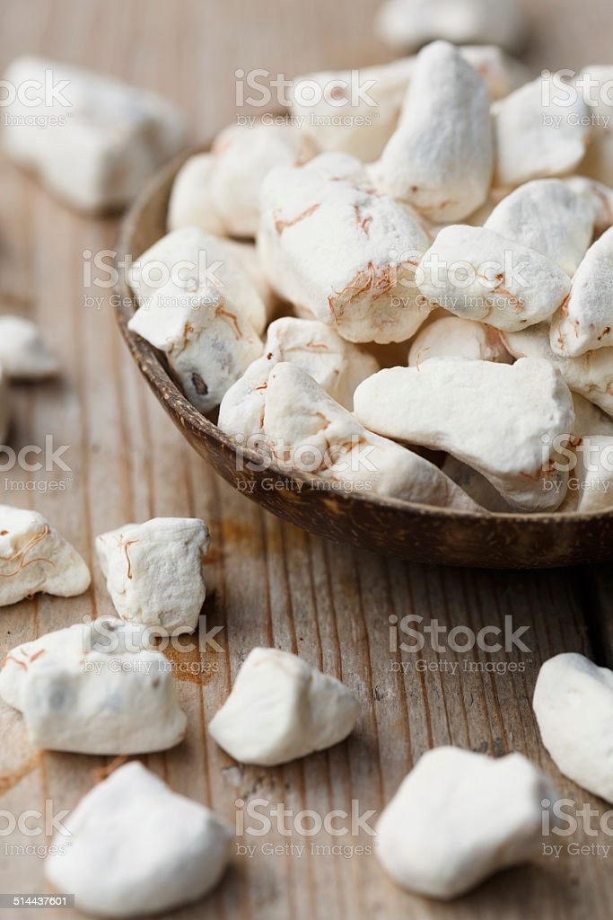 Dried Baobab fruit pulp stock photo