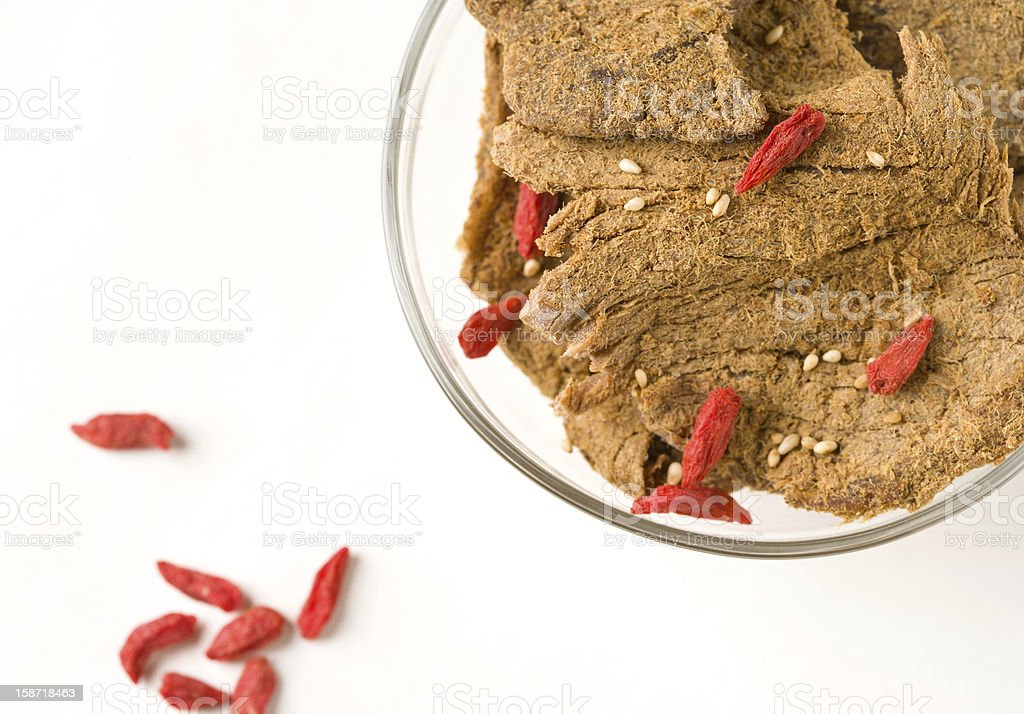 Dried beef in bowl royalty-free stock photo