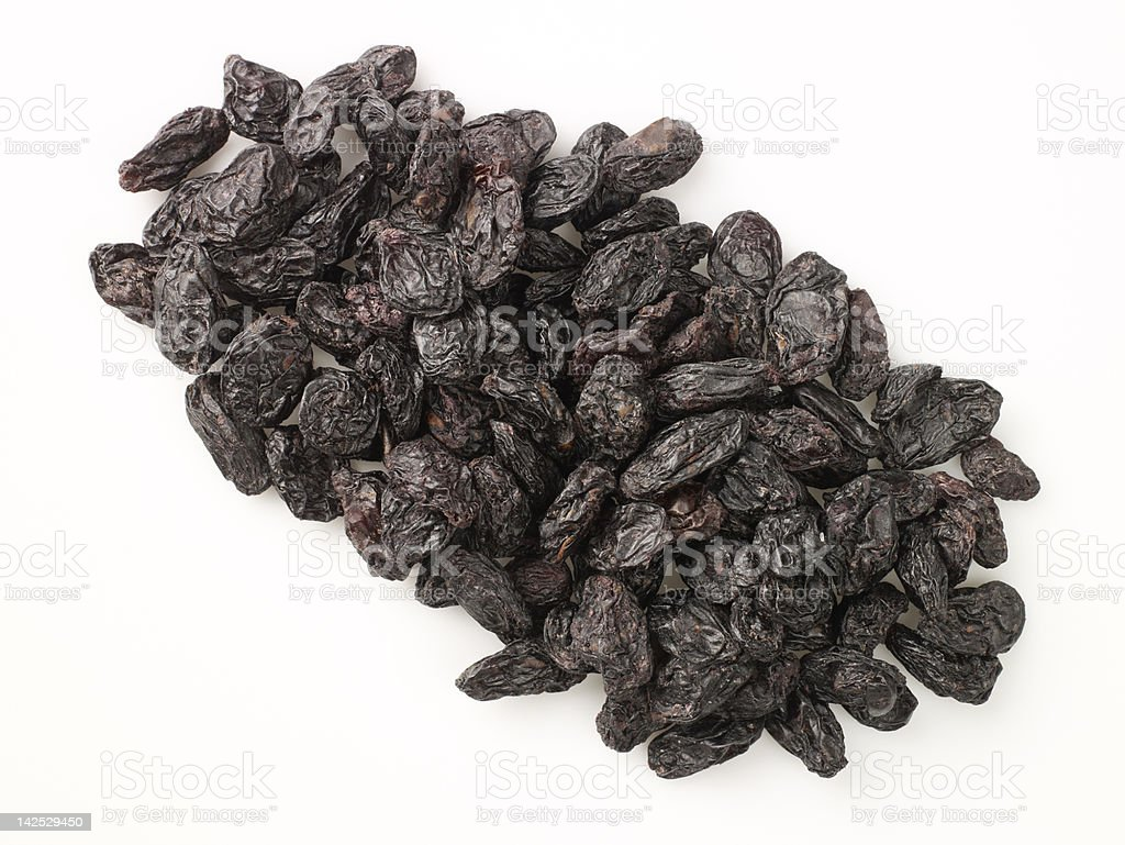 Dried Black Grapes royalty-free stock photo