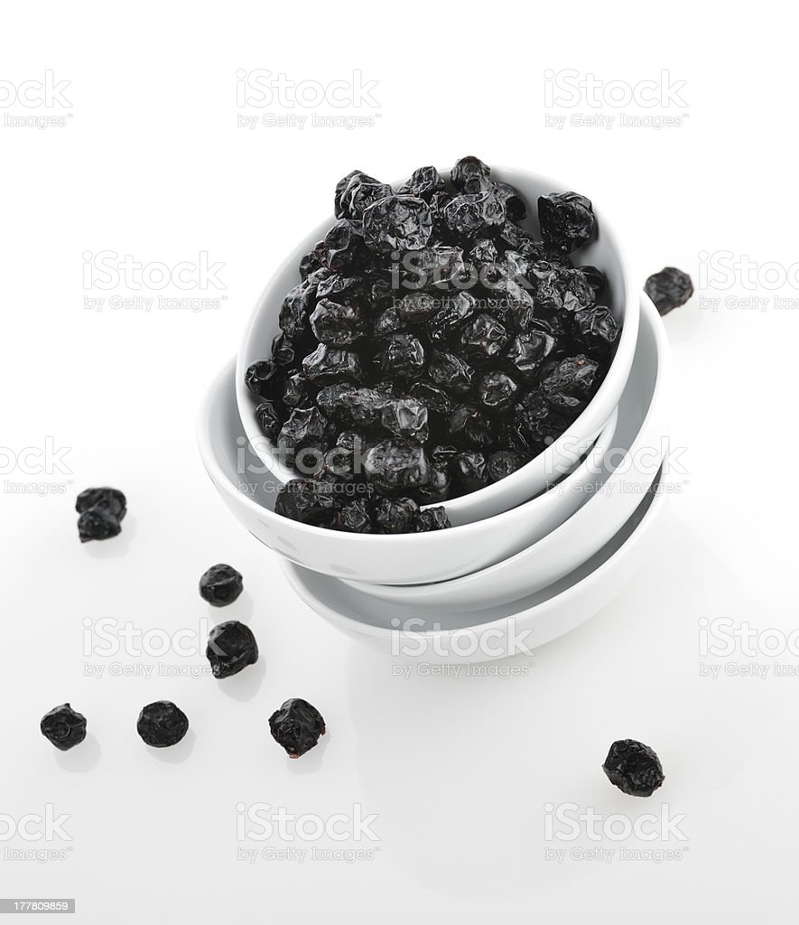 Dried Blueberries stock photo