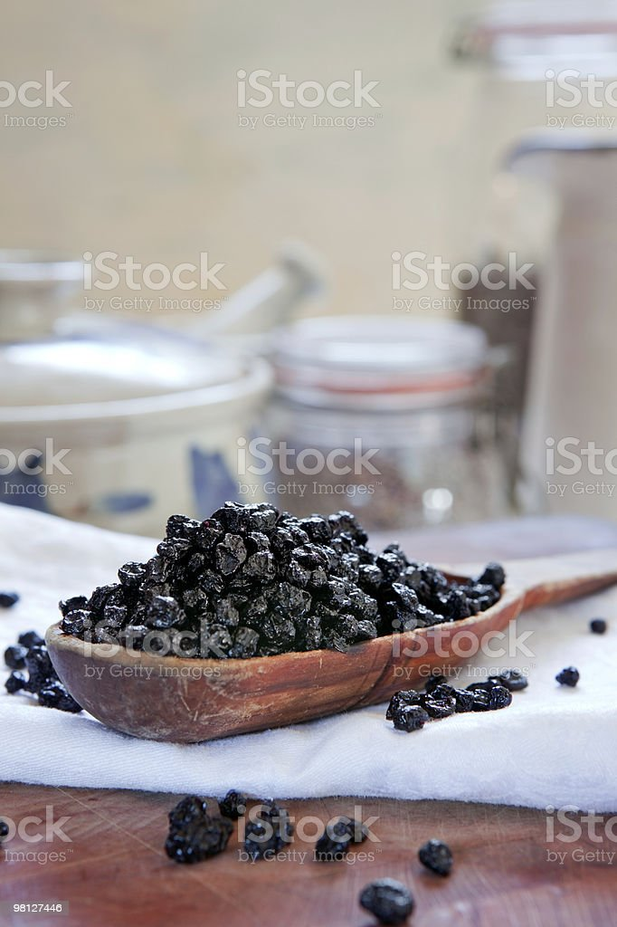 Dried blueberries royalty-free stock photo