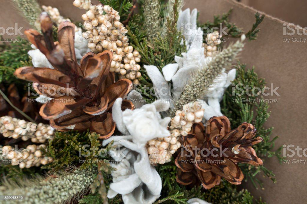 dried bokay of flowers stock photo