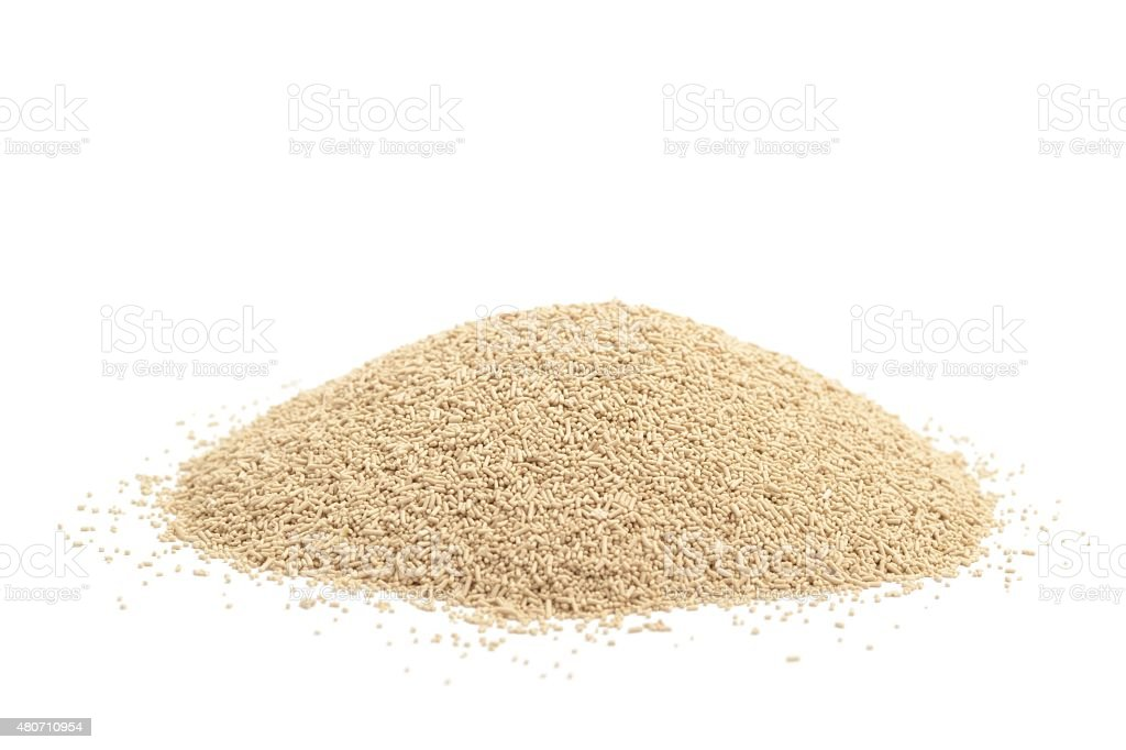Dried bread baking yeast stock photo