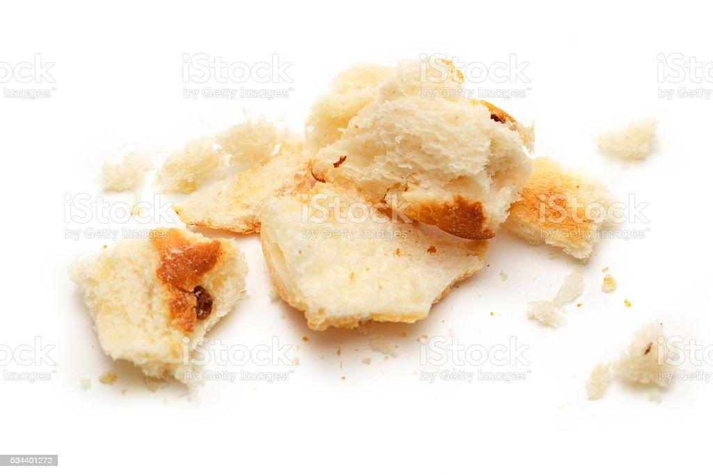 Dried bread crumbs stock photo