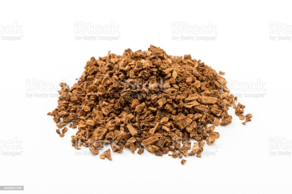Dried burdock, Burdock tea ingredients. - foto stock