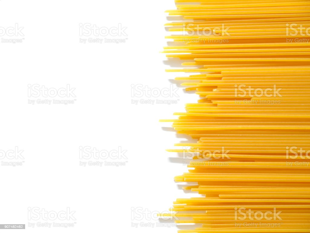 Dried capellini spaghetti stock photo