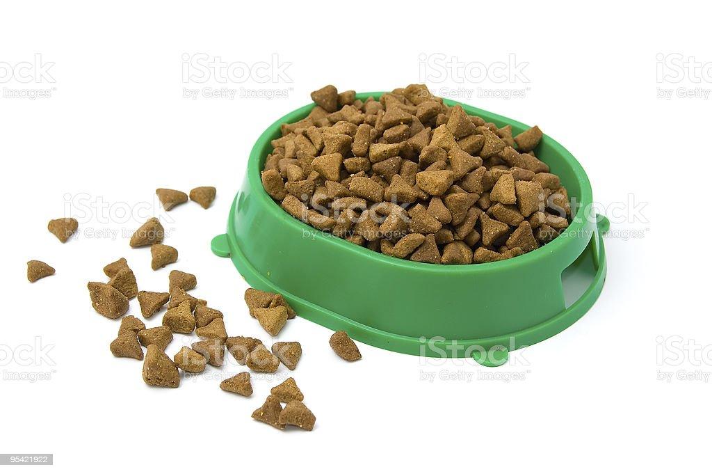 Getrocknete Katzen Essen Lizenzfreies stock-foto