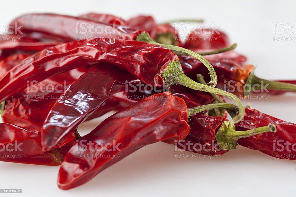 Peperoni di peperoncino essiccato foto stock royalty-free