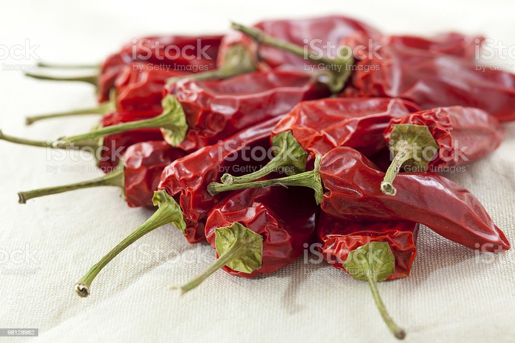 Dried Chili Peppers royalty-free stock photo