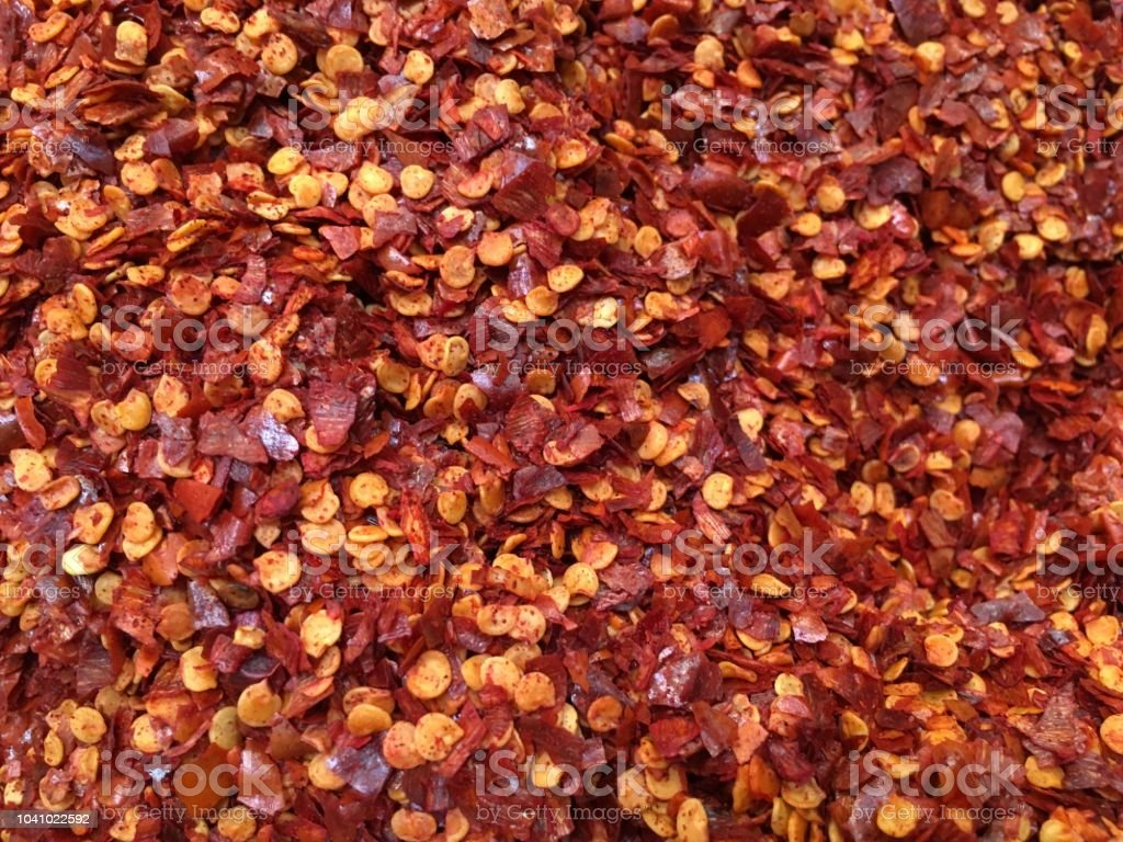 Dried Chilli Flakes stock photo