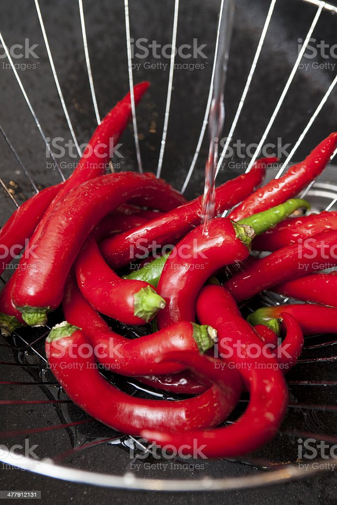 dried chilli, food ingredient royalty-free stock photo