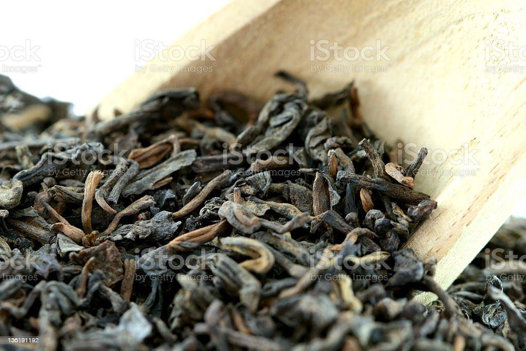Dried Chinese Black Tea Leaves. royalty-free stock photo