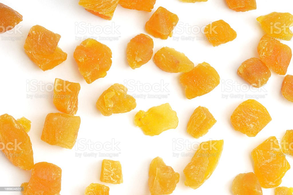 Dried chopped Apricots royalty-free stock photo