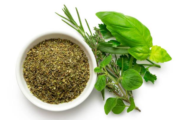 Dried chopped provence herbs in a white ceramic bowl next to fresh picture id1129147738?b=1&k=6&m=1129147738&s=612x612&w=0&h= znottfslemj0w dpck29cwreunwtkibygj9fv0j874=