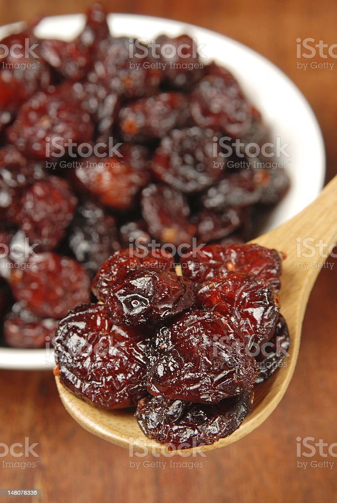 Dried Cranberries royalty-free stock photo