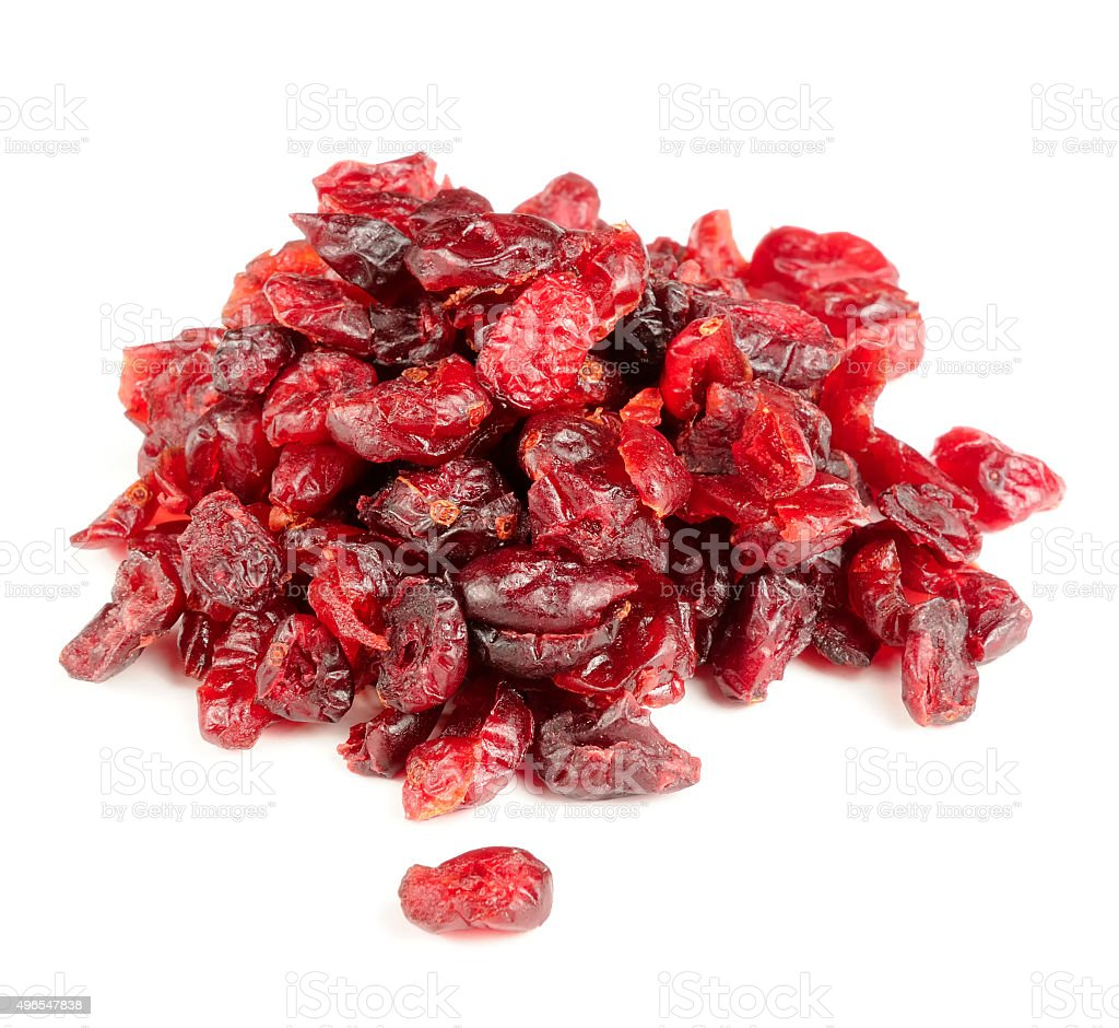 Dried Cranberry Isolated on White Background stock photo