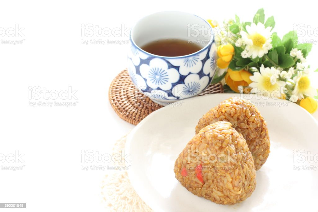 dried Curry rice ball stock photo