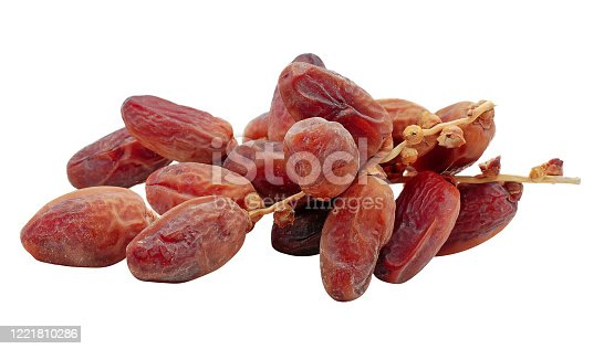978314900 istock photo Dried date palm isolated on white background 1221810286
