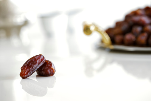 Dried dates and Arabic coffee