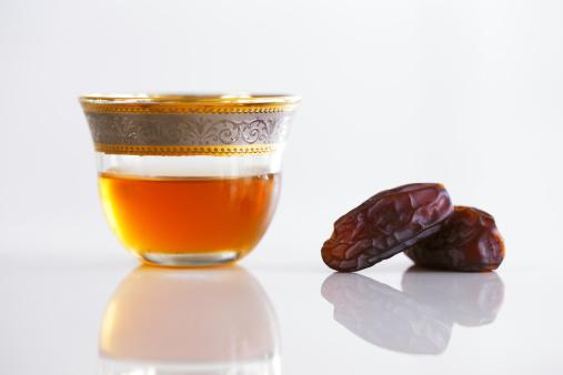 Dried dates and Arabic tea